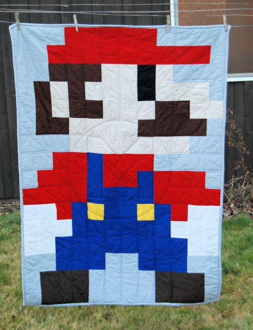 Mario Quilt by The Little Waffleflower