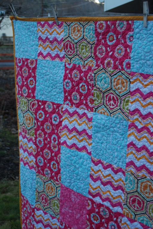 Pink Quilt by The Little Waffleflower