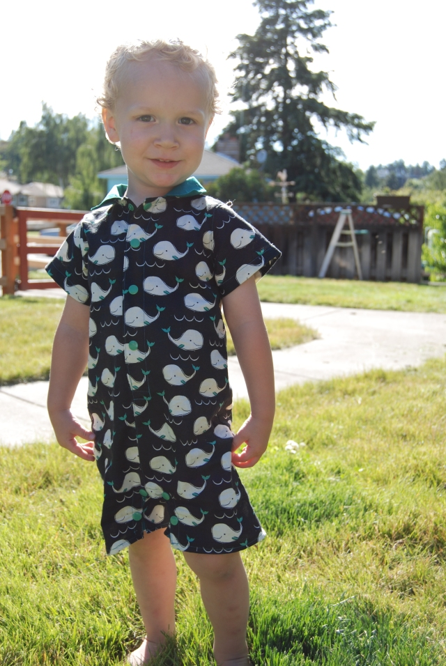 Pat-a-Cake Romper by Peekaboo Pattern Shop... Romper sewn by Little Waffleflower