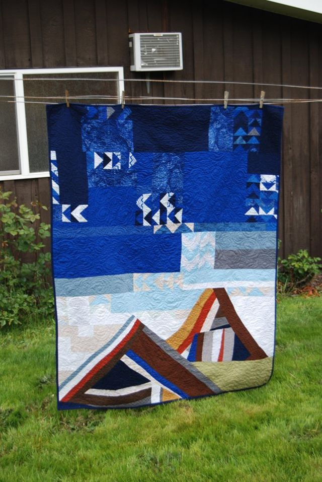 Mountain and flying geese quilt
